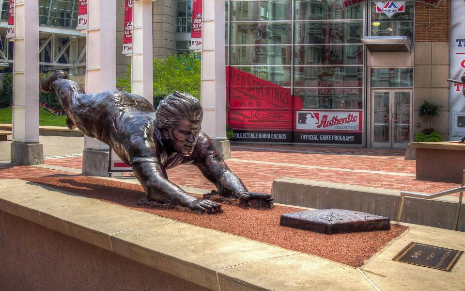 Great American Ballpark Rose statue