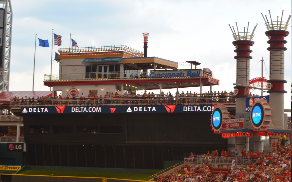 Great American Ballpark Steamboat riverdeck