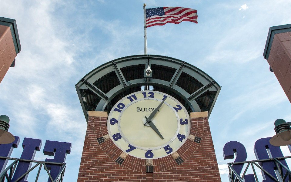 Coors Field clock