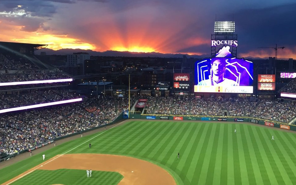 Coors Field mountains