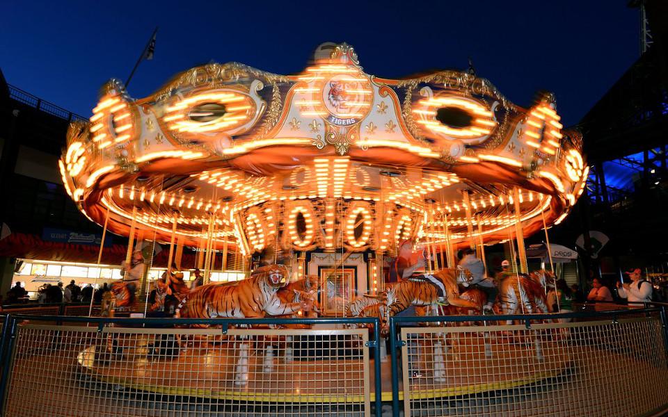 Comerica Park carousel