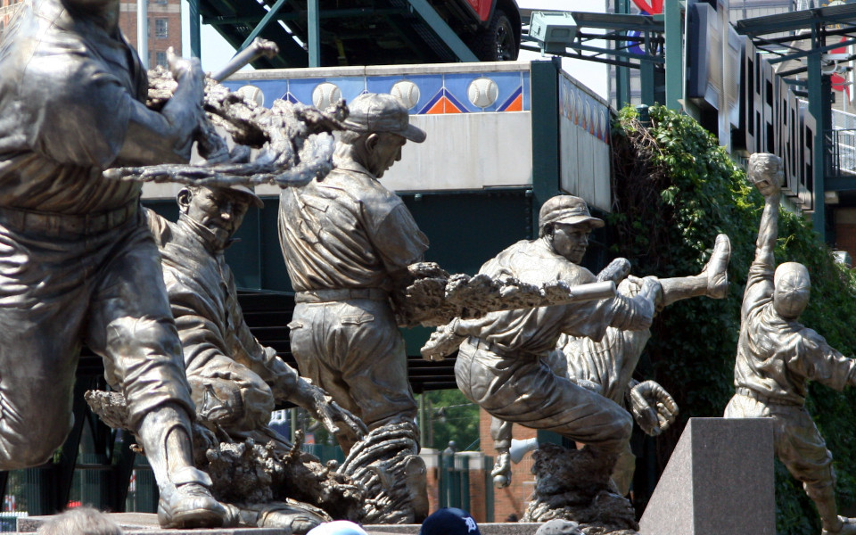 Comerica Park statues