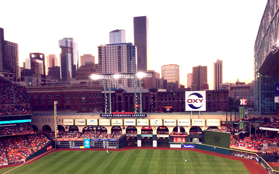 Minute Maid Park open roof