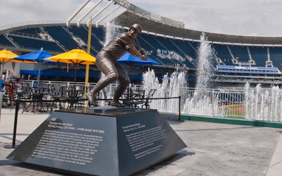 Kauffman Stadium Brett statue
