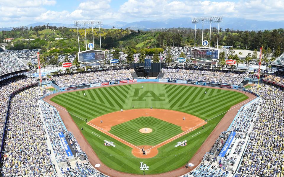 Dodger Stadium panoramic view