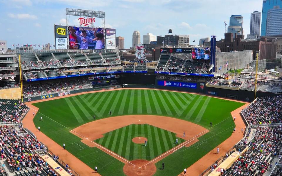 Target Field panoramic view
