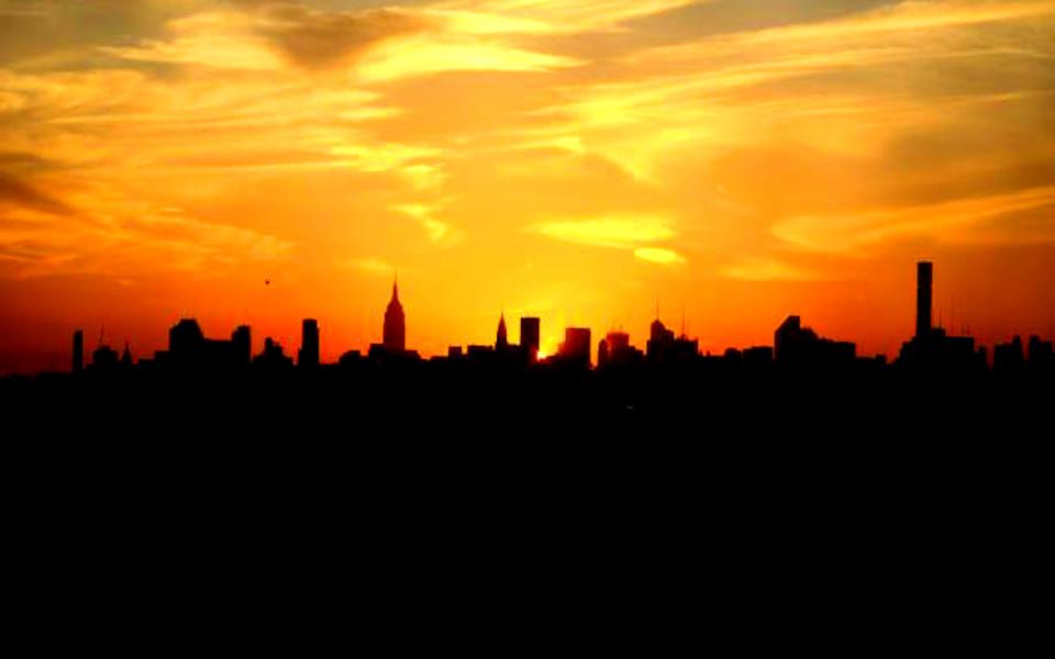 Citi Field distant view of Manhattan