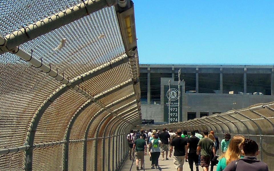 Oakland Coliseum BART walk