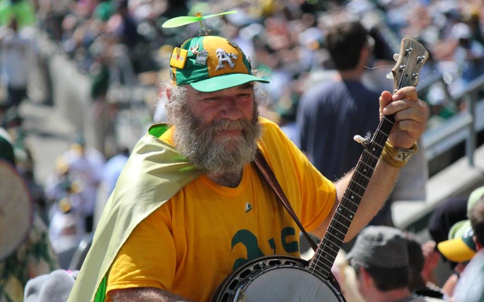 Oakland Coliseum Banjo Man