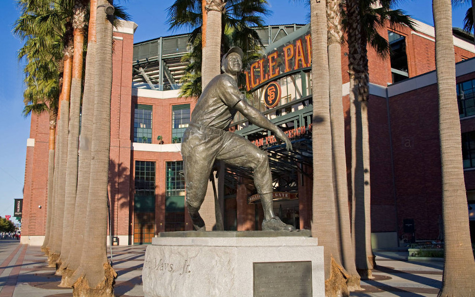Oracle Park Mays statue