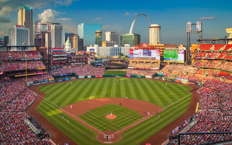Busch Stadium panoramic view